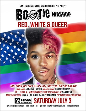 Bootie Mashup: Red, White & Queer Flyer