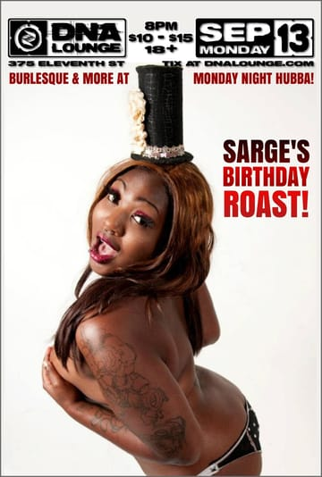 Monday Night Hubba: Sgt. Die Wies' Birthday Roast Flyer