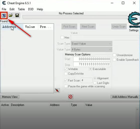 Pixel Dungeon Hero cheat engine selezione processo fase 1