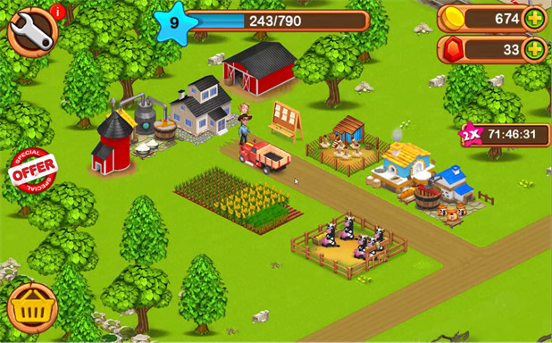 giochi gratuiti offline per Android - Big Little Farmer