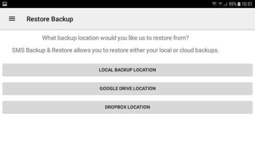 SMS Backup and Restore - Ripristino Backup