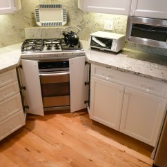 Stainless Kitchen Faucet Refinished Cabinets Unconventional Corner Remodel - Danilo Nesovic ...