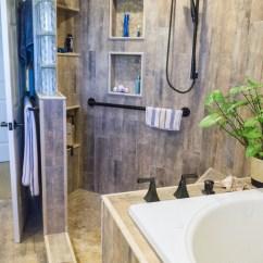 Easy Kitchen Remodel Corner Sinks For Earthy Wood & Glass Master Bath - Danilo Nesovic, Designer ...