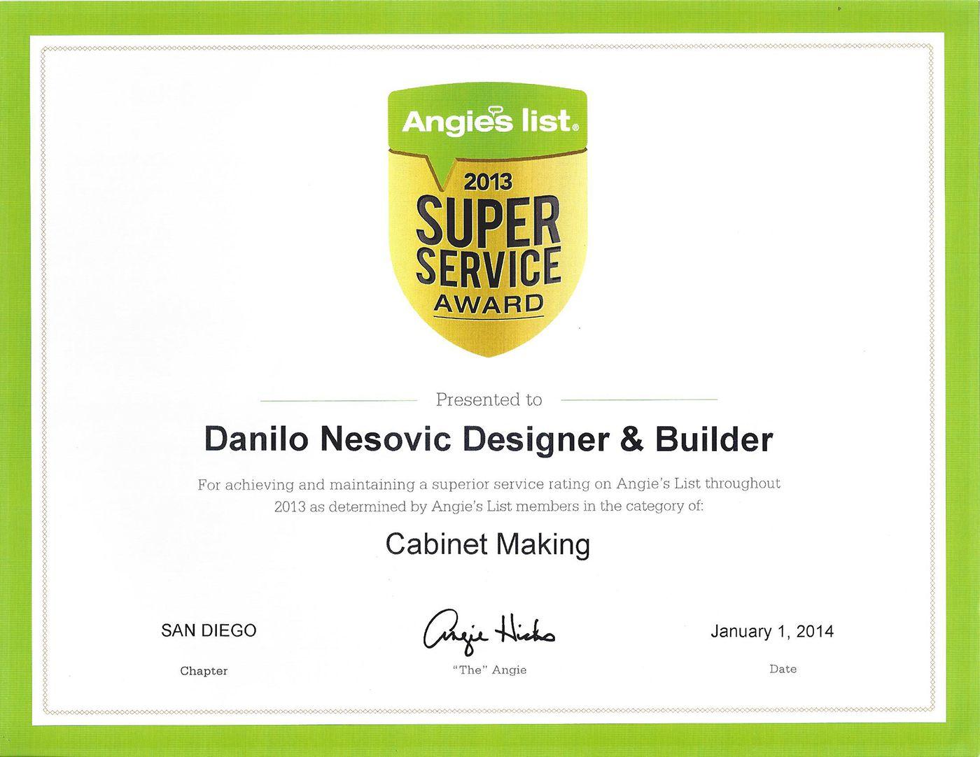 Awards danilo nesovic designer builder kitchen - Angie s list bathroom remodeling ...
