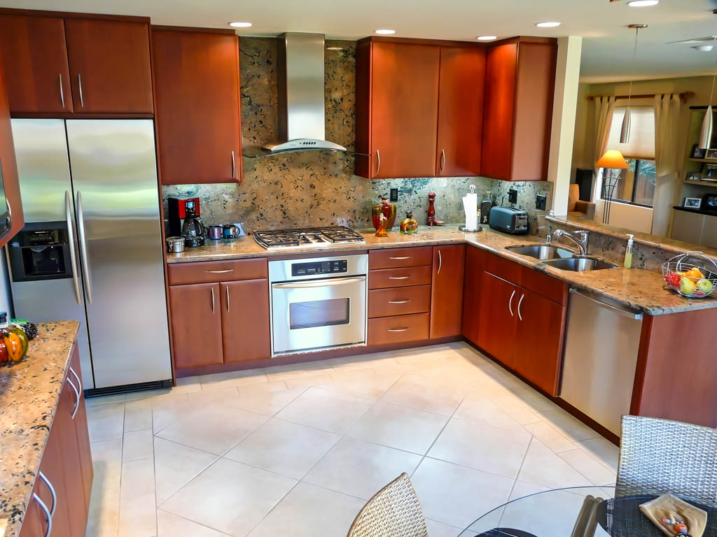 red cherry cabinets kitchen inexpensive makeovers sleek modern danilo nesovic designer