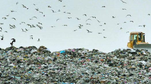 мусорная свалка возле Софии