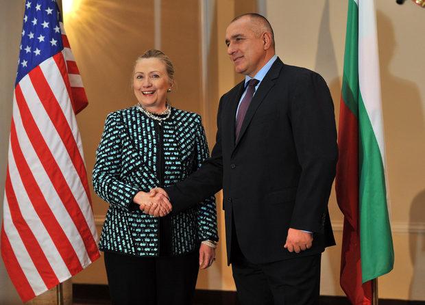 """Борисов представи американския държавен секретар като """"скъп гост""""."""