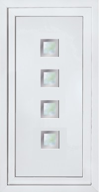 Modern Contemporary Glazed Panels, UPVC Door Panel, Door