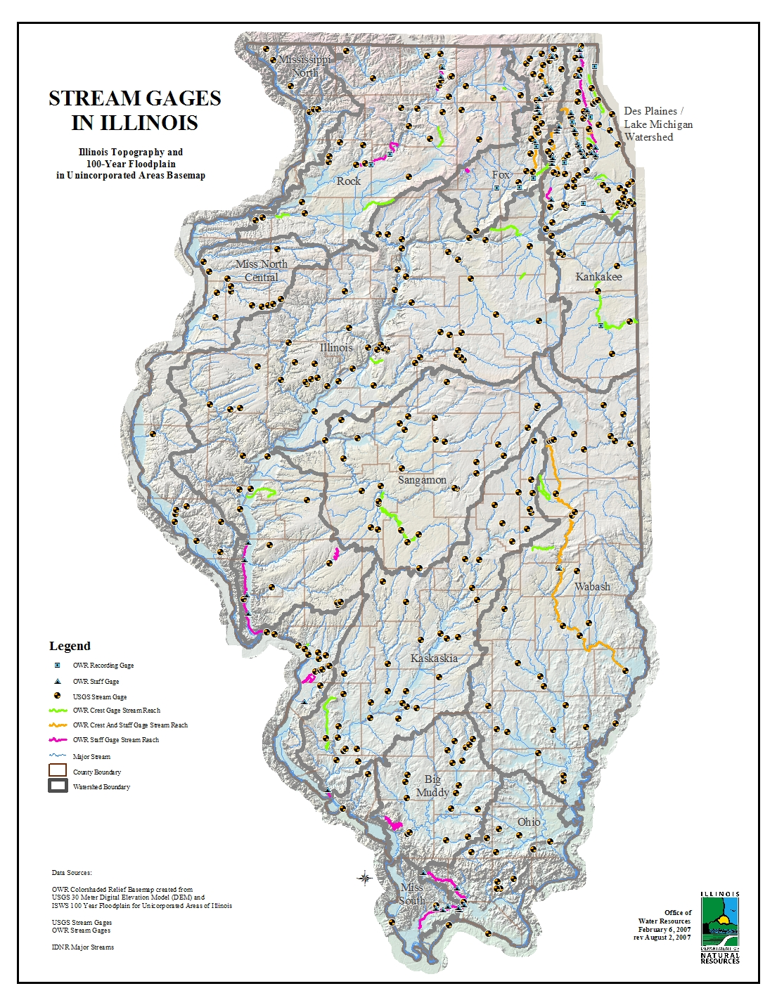 Crazy Printable Map Of Illinois
