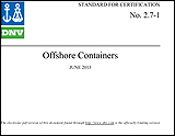 DNV 2.7-1 Offshore Shipping Containers Standard Houston TX
