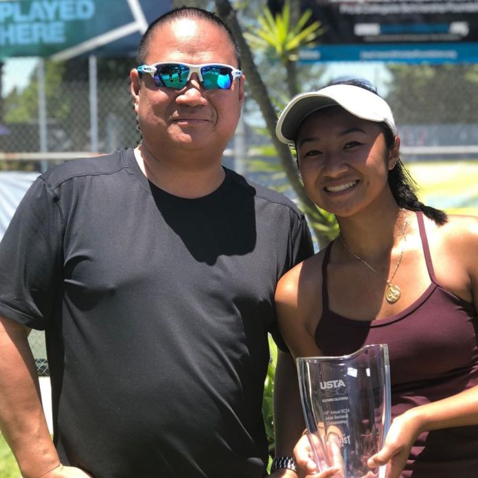 Justine Dondonay with her father Enrique. | FB photo.