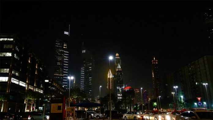 The busy streets of Dubai, taken after the author attended an expo and concert at The World Trade Centre.