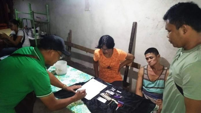 Evidences being marked in the Village 17 buy-bust. | Photo courtesy of BCPO, Lt. Col. Ariel Pico