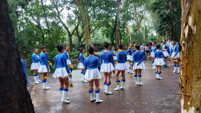 Majorettes from the 4th District athletic delegation prepares for the kick off parade. | Photo by Richard D. Meriveles