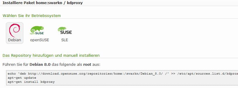 Aus kd_proxy wird kdproxy // Erste Testbuilds für Debian & Fedora