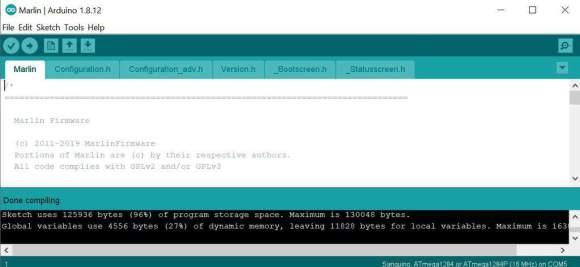 Arduino Marlin verify compile no errors Install Marlin 2.0.5.3 Ender-3 Pro