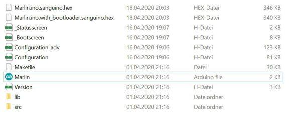 Marlin directory and binary Install Marlin 2.0.5.3 Ender-3 Pro
