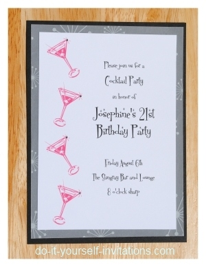 Print And Create 21st Birthday Invitations