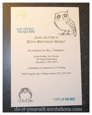 50th Birthday Party Invitations On More Invitation Ideas