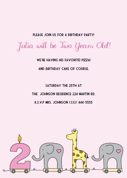 1st birthday girl invitations