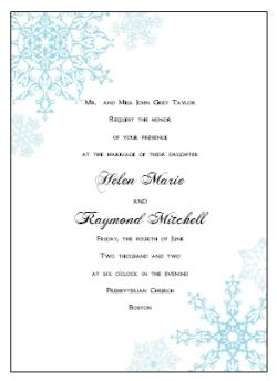 Winter Wedding Invitation Kits Printable Diy Templates