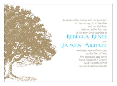 Printable Wedding Invitations Antique