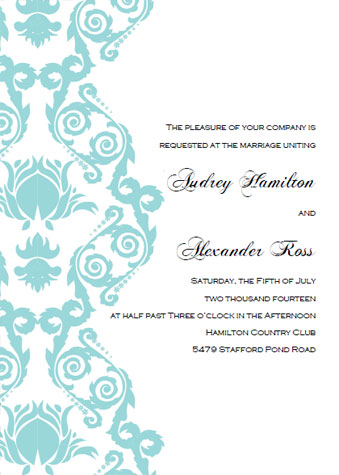 Printable Wedding Invitation Templates Break Out The Blue Bubbly