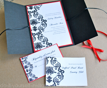 Cool Wedding Invitation Blog Red And Black