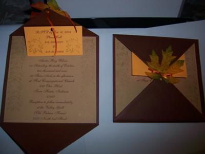 Fall Leaves Wedding Invitations