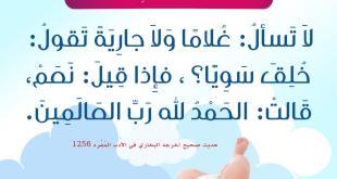 الأسرة المسلمة- - ما يقال إذا ولد فيهم مولود