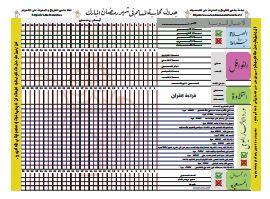 جداول ومفكرات - جدول محاسبة النفس