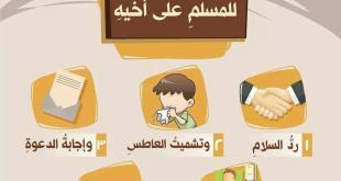 المجتمع المسلم - خمس تجب للمسلم على أخيه