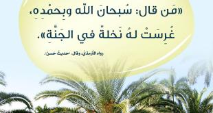 أذكار - سبحان الله وبحمده