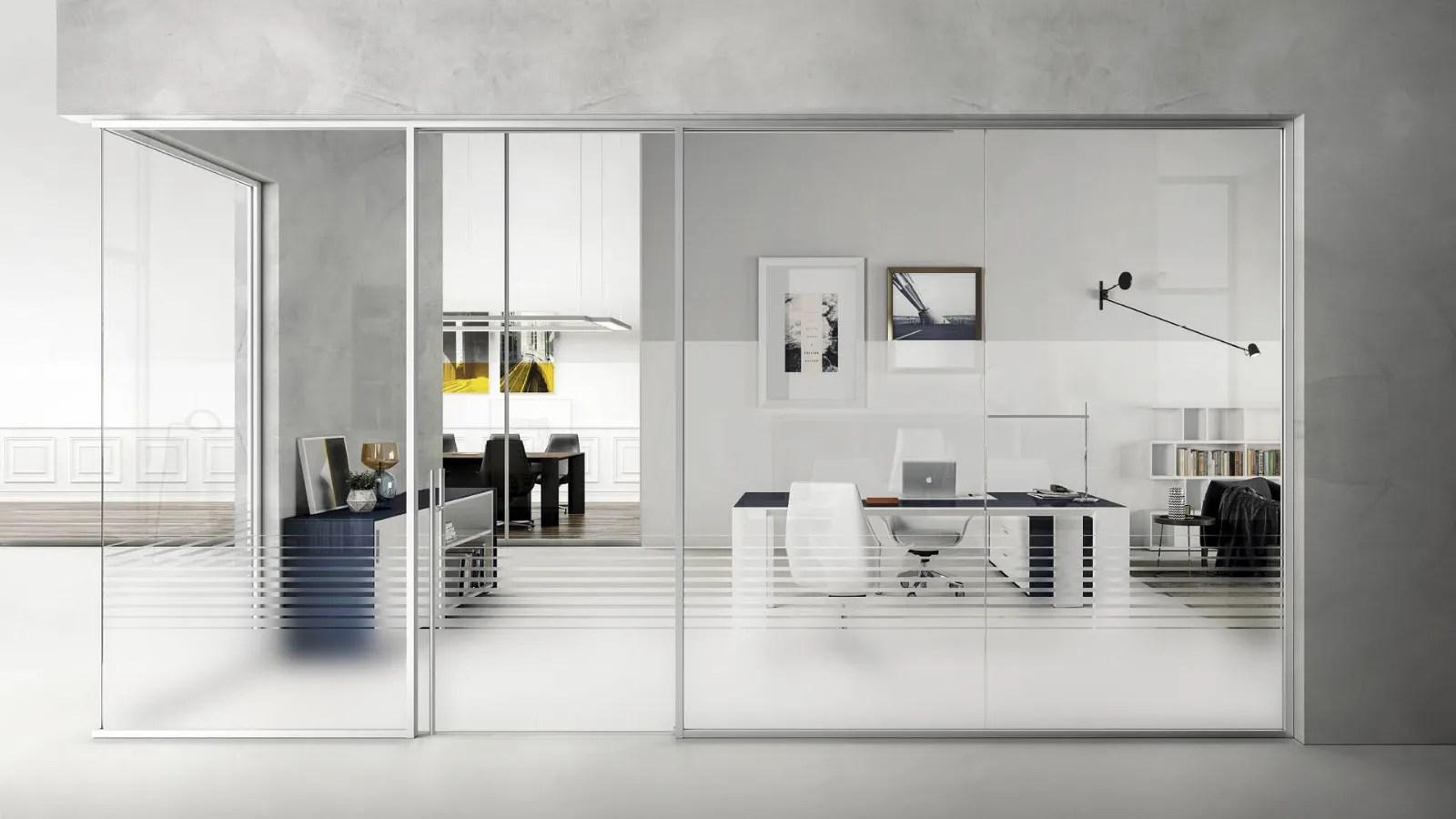 Cerca tutti i prodotti, i produttori ed i rivenditori di pareti mobili in vetro: Parete Divisoria In Vetro E Alluminio Grace