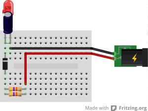 Acender LED em 110v