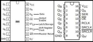 74HC595 pinout | multiplexação