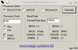 Baud rate a 38600