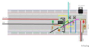 NE555 modo biestável com FET canal N | botão para desligar raspberry
