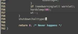 Final do código de shutdown | botão para desligar raspberry