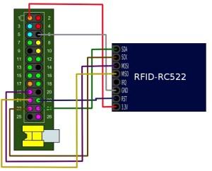 RC522 no Raspberry - Wiring do RPi 1