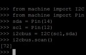 i2c scan
