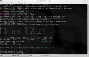 NanoPi - Primeiro Login