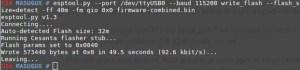 esptool.py --port /dev/ttyUSB0 --baud 115200 write_flash --flash_size=detect -ff 40m -fm qio 0x0 firmware-combined.bin
