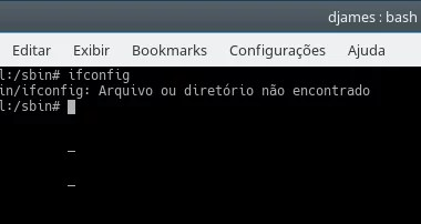 ifconfig command not found