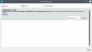 instalação | WiFi manager com ESP8266