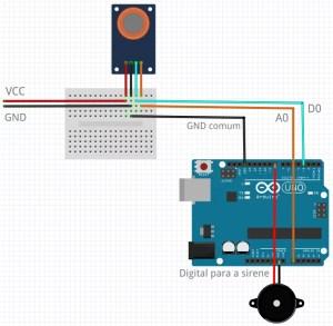 Sensor MQ-6 para gás - wiring