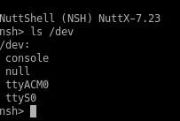 nsh ls - Como configurar a porta USB no STM32F103