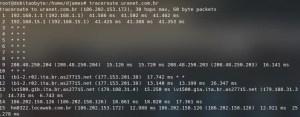Diagnóstico de rede no Raspberry - traceroute