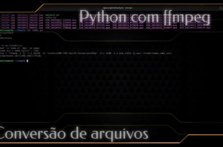 Python com ffmpeg