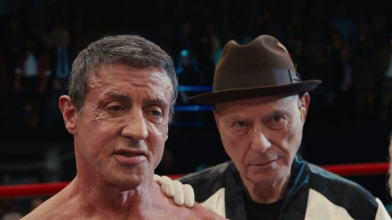 Stallone ready for the match @ 1:33:04
